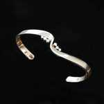BR101 18kt white gold hand forged bracelet with .30ct total weight diamonds