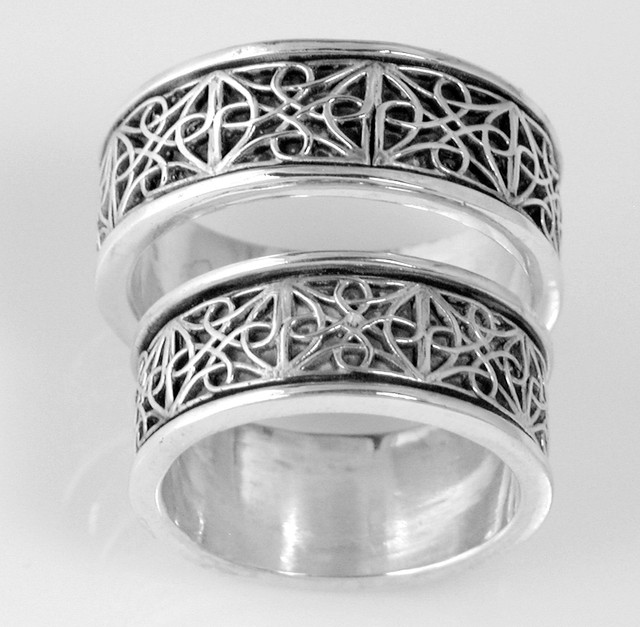 CAD Created celtic knot wedding rings