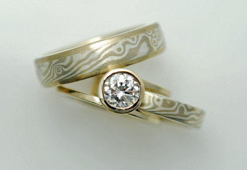 collection collections ring wedding diamond set gane rings mokume mdt design australia tension