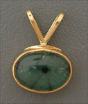 P304 22kt yellow gold with trapchee emerald. Rare and unique