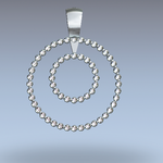 CDP205 14kt white gold pendant with .60cttw diamond.
