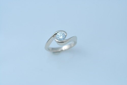 CADWR102 14kt white gold designed by Jacob Miller with .75ct round brilliant diamond.