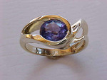 WR45 18kt yellow gold with 1.10ct tanzanite