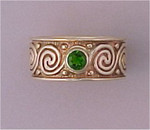 WR47 14kt yellow gold with .25ct chrome diopside
