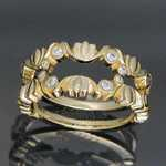 WR09 14kt yellow gold ring guard with .30ct total weight diamonds